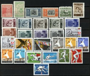 Bolivia 1945-69, Sets and singels on page, All MNH, Mi cat +30,9€
