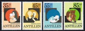 Netherlands Antilles B192-B195,MNH.Mother,child;Boy & cat;Girl & Teddy bear,1981