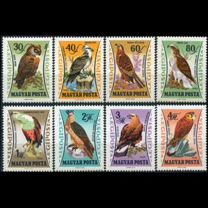 HUNGARY 1962 - Scott# C228-35 Birds Set of 8 NH