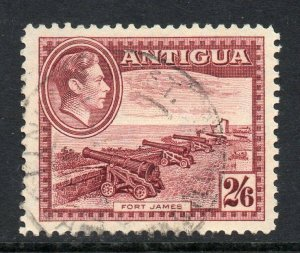 Antigua 1938 KGVI 2/6d brown-purple Cannons SG 106 used