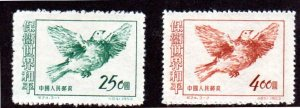 PRC 187-8 MNH SCV $3.00 BIN $2.00 BIRDS