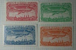 ASDA Natl Postage Stamp Show 1950 7Line Reg Armory Philtelic Souvenir Ad Label