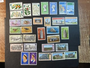 GUERNSEY # 141-172-MINT NEVER/HINGED--10 COMPLETE SETS--1976-78