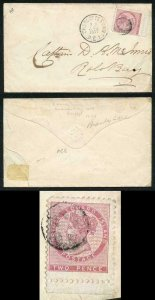 PRINCE EDWARD Is SG28 2d rose-pink wove bluish white paper perf 11.5-12 on cover