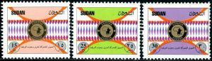 HERRICKSTAMP SUDAN Sc.# 484-86 Comesa