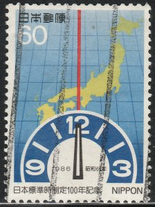 JAPAN 1676, JAPANESE STANDARD TIME CENTENNIAL. USED. F-VF. (395)