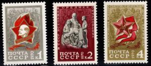 Russia Scott 3765-3767 MNH** set
