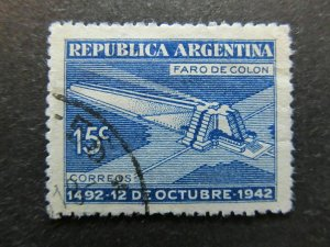 A4P30F73 Argentina 1942 Wmk RA in Sun 15c used