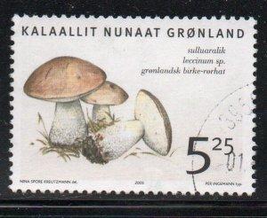 Greenland Sc 446 2005  5.25 kr Mushroom stamp used