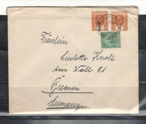 COVER PENANG-GERMANY HANS RUSVHER to Fraulein LISELOTTE KNOLLPENANG28/09/1929