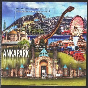Turkey. 2017. bl 164. Pnkapark, dinosaurs. MNH.