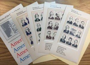 US #2216-2219 MNH OG XF - Presidents of the United States: Ameripex 86 SCV $30
