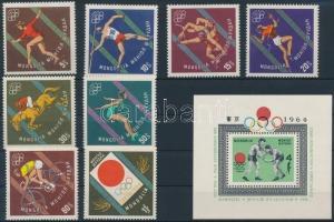 Mongolia stamp Summer Olympics set + block 1964 MNH Mi 356-363 + 8 WS183290