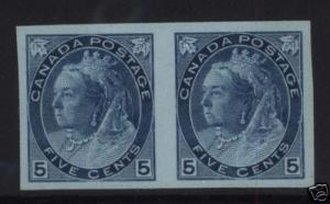 Canada #79a XF/NH Imperf Pair