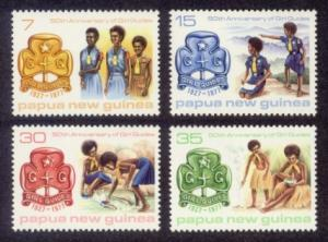 Papua New Guinea MNH 470-3 50th Anniversary Of Girl Guides 1977