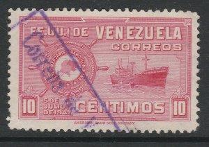 Venezuela 1948-50 10c used South America A4P53F55