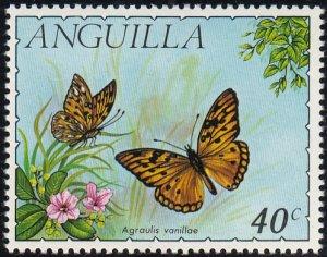 Anguilla 1971 MH Sc #125 40c Agraulia vanillae Butterflies