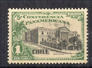 Chile 1923 Pan America Issue Mint hinged Shade of 1P. NW-13107