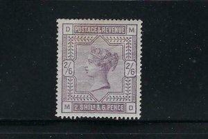 GREAT BRITAIN SCOTT #96 1883 VICTORIA 2/6 SHILLING- WMK 31 - MINT HINGED