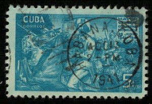 1941, Cuba, The 100th anniversary of the Birth of H. Moncada, 5 cents (T-8178)