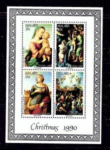 Malawi 577a MNH 1990 Christmas (Raphael Paintings) S/S  #2