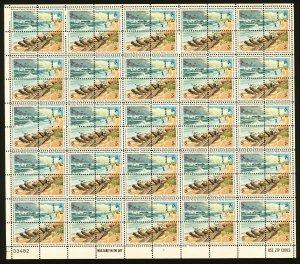 #1448 - #1451 1972 2c EFO National Park Centennial Full Sheet Color Shift Error