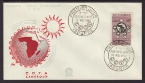 Cameroun 339 CCTA 1960 U/A FDC
