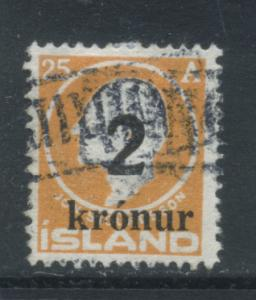 Iceland 149 used (Facit 121) TOLLUR cancel
