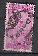 J25736 1947 italy hv of set used #c121 airmail