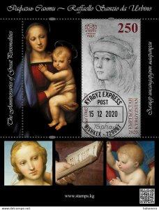 Stamps of Kyrgyzstan 2020. - Anniversaries of great personalities-Raphael Santi-