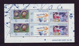 New Zealand Sc B126a 1986 Children stamp sheet mint NH