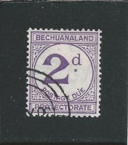 BECHUANALAND POSTAGE DUE 1933-58 2d VIOLET FU SG D6 CAT £48
