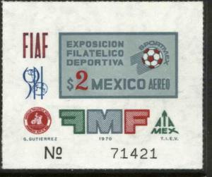 MEXICO C374, Sportmex70 Philatelic Exposition. MNH