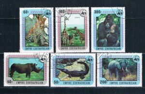 Central African Republic 323-28 Used set African Animals 1978 (HV0166)+