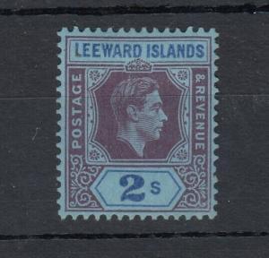 Leeward Islands KGVI 1938 2/- Purple Blue SG111 MH J5332