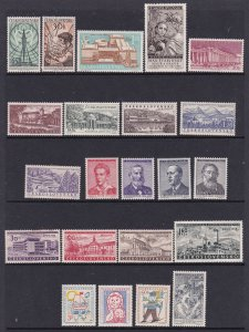 Czechoslovakia a small mint lot from about 1950-60's with sets