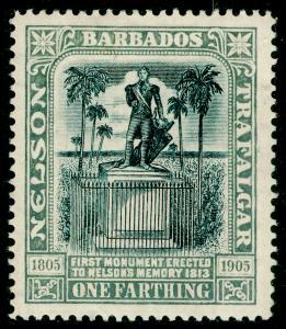 BARBADOS SG158, Nelson Centenary ¼d black & grey, M MINT.
