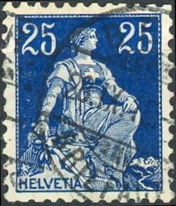 Switzerland #133 25c Helvetia Used/H
