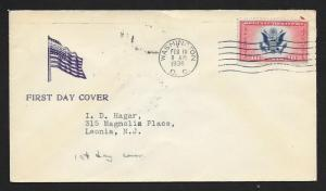 UNITED STATES FDC 16¢ Special Delivery AIr Mail 1936 Cacheted