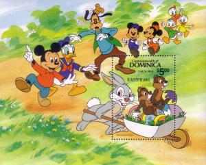 Dominica SC# 841 MNH Mickies Easter W/ Chip & Dale '84 LA8