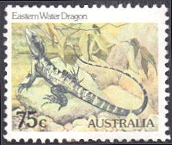 Australia # 797 used ~ 75¢ Eastern Water Dragon