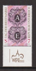 Austria    #1725  MNH  1997    stamp day letters A & E