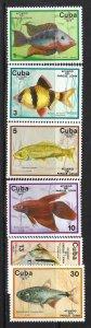 CUBA 2126-31 MNH  FISHES Z352