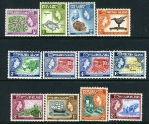 PITCAIRN ISLANDS-1957-63 Set to 2/6 Sg 18-28 LIGHTLY MOUNTED MINT V13676