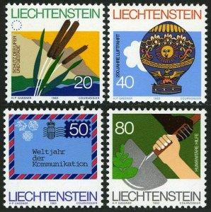 Liechtenstein 762-765,MNH.Michel 824-827. Nature,Manned flight,WCY,Aid.1983.