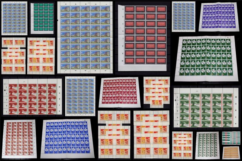 Suriname 1966 MNH Large Lot Blocks M/S Welfare Charity Migration 750+Stamps#C896