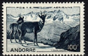Andorra (Fr) #C1  F-VF Unused CV $87.50 (X5499)