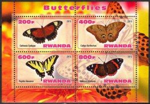 Rwanda 2013 Butterflies (1) MNH Cinderella !
