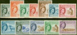 Somaliland 1953-58 set of 12 SG137-148 V.F Very Lightly Mtd Mint