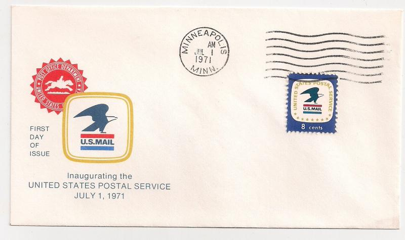 7.1.71 AFFAIR USPS eagle #1396 Minneapolis MN AM machine Fresh!!